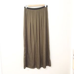 Old Navy Olive Green Maxi Skirt Size Small